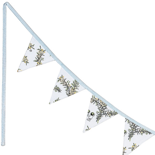 May Gibbs by Ecology 275cm White Wattle Cotton Bunting