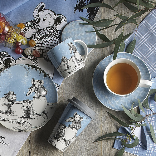 2 Piece Blue Blinky Bill Cotton Teatowel Set