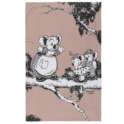 2 Piece Coral Blinky Bill Cotton Teatowel Set