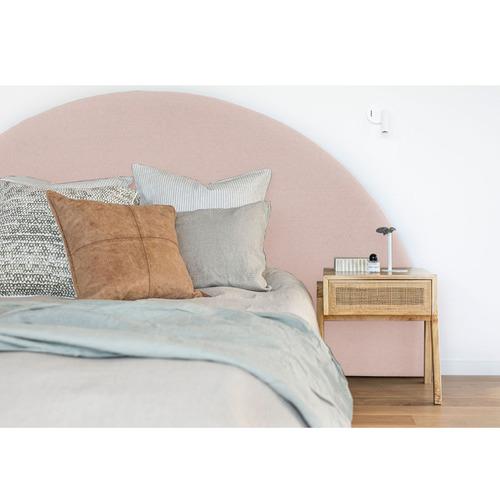 Beverly Lane Half Moon Upholstered Bedhead