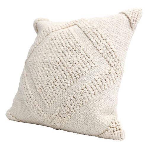 Splosh Beige Textured Tranquil Cotton Cushion