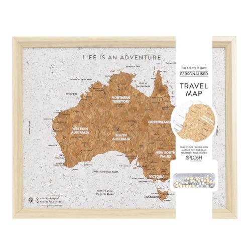 Australia Map Travel Board