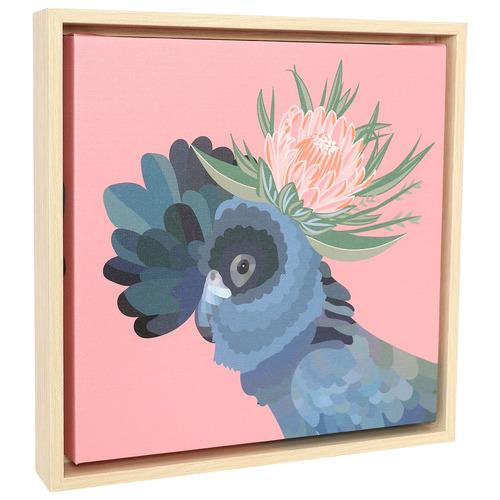 Botanica Cockatoo Framed Canvas Wall Art