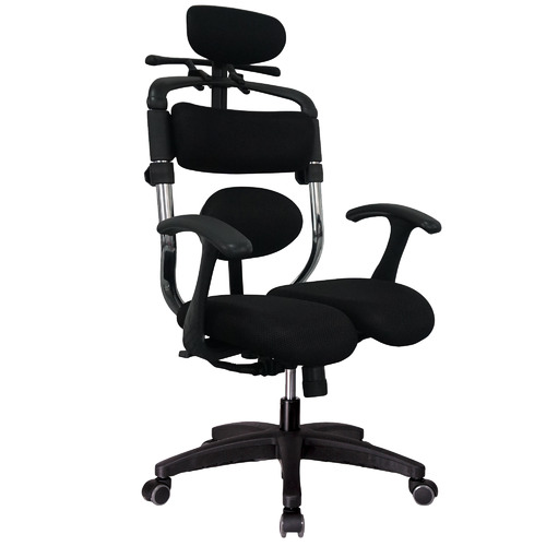 Hara Black Hara  Faux Leather Ergonomic Office Chair