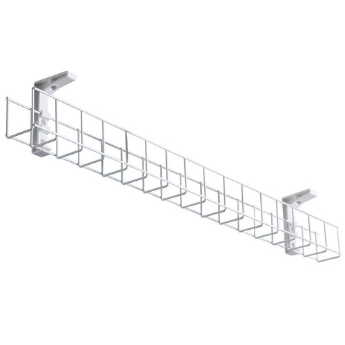 Home Office Designs White Starfall Single Tier Metal Cable Tray