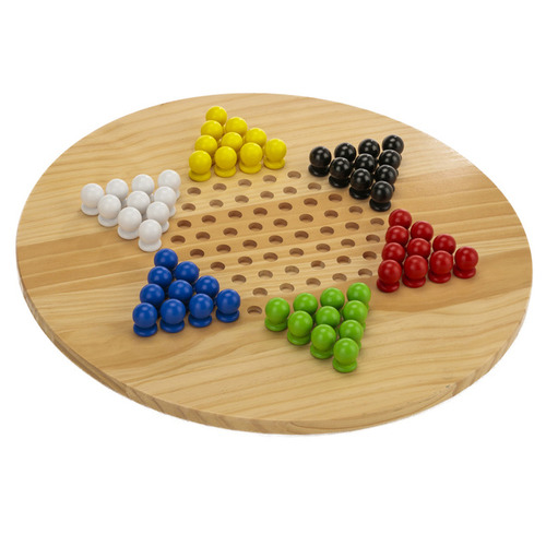 Jenjo Games Giant Chinese Checkers & Solitaire Game Set