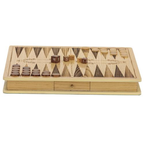 Jenjo Games Premium Backgammon Board Game Set