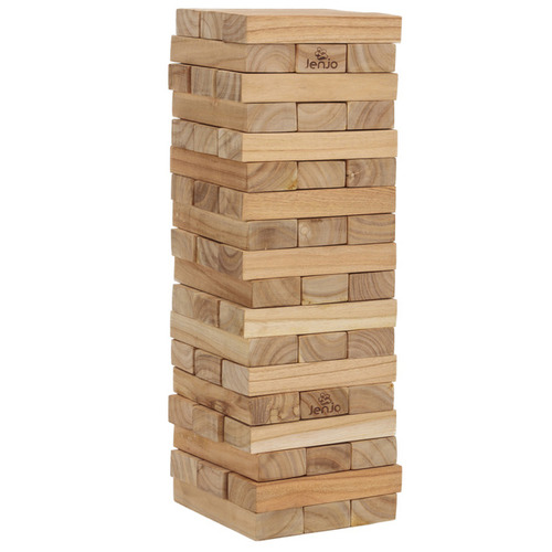 Jenjo Games 54 Piece Giant Outdoor Wooden Blocks Set