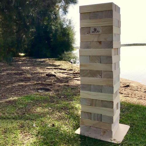 Jenjo Games 54 Piece Jumbo Outdoor Wooden Blocks Set