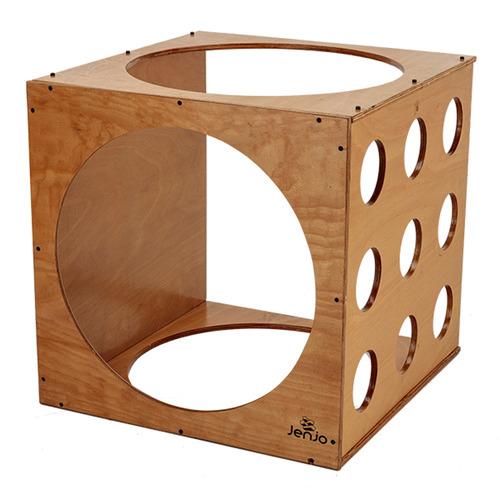 Jenjo Games Kids' Natural Wooden Climbing Cube