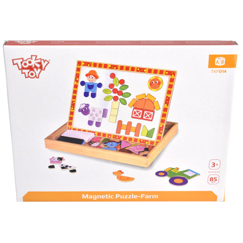 Tooky Toy Kids' Farm Magnetic Puzzle & Board