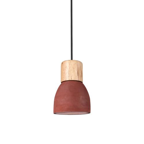 Right At Home Decor Two Tone Concrete & Wood Pendant Light