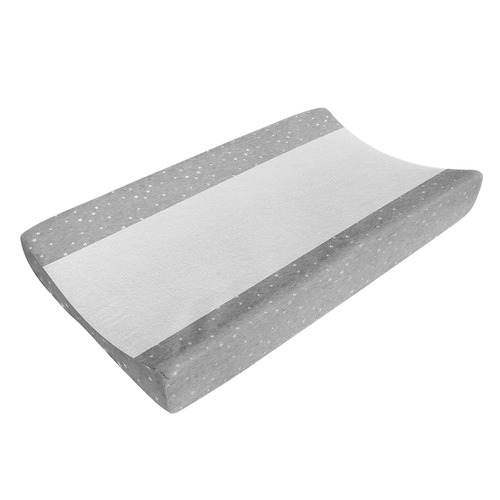 Living Textiles Silver Stars Jersey Cotton Towelling Change Pad Cover
