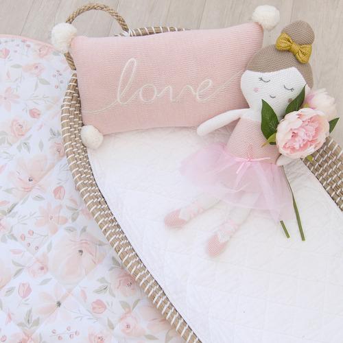 Living Textiles Blush Love Cotton Knit Cushion