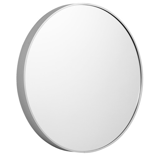 Halo Small Round Silver Metal Wall Mirror