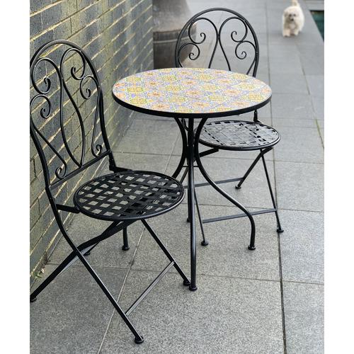2 Seater Mosaic Sicily Outdoor Bistro Set