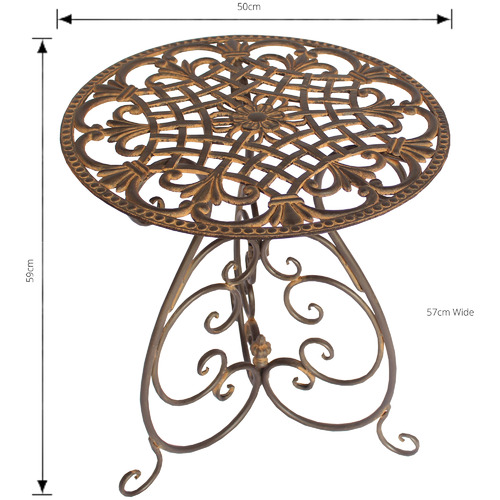 The Complete Garden Edelweiss Metal Outdoor Side Table