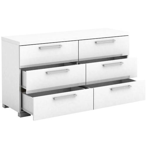 Cape Furniture Ellana High Gloss 6 Drawer Lowboy