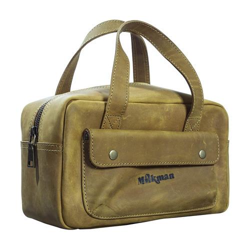 Milkman Grooming Co. Men's Tool Kit Leather Dopp Bag