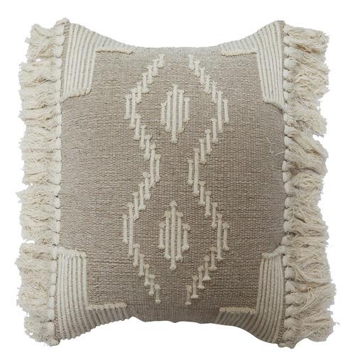 Bohemia & Co Beige & Cream Cotton Cushion