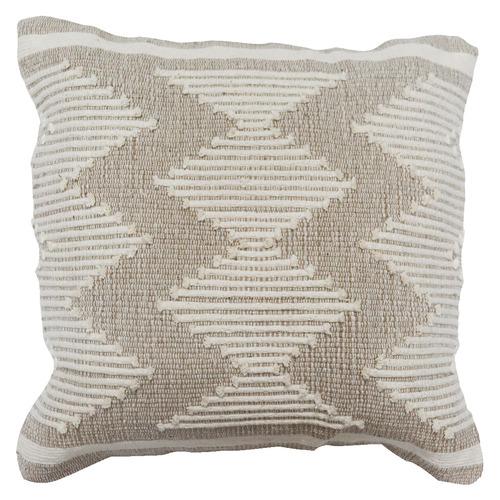 Bohemia & Co Grey & Cream Embroidered Cotton Cushion