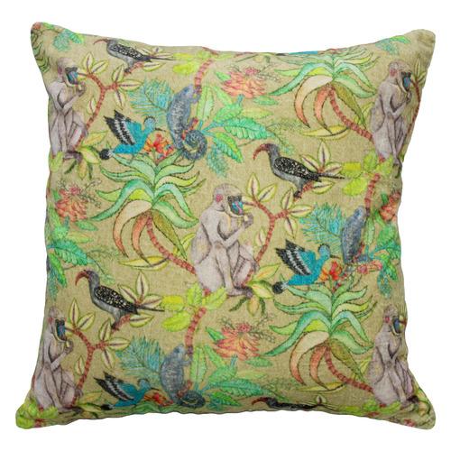 Bohemia & Co Monkey Velvet Cushion