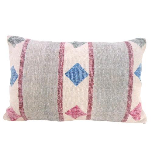 Bohemia & Co Pink & Grey Cotton Cushion