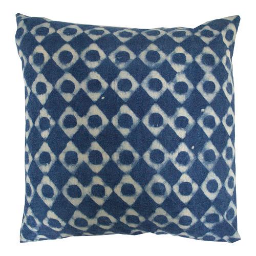 Bohemia & Co Blue & White Cotton Cushion