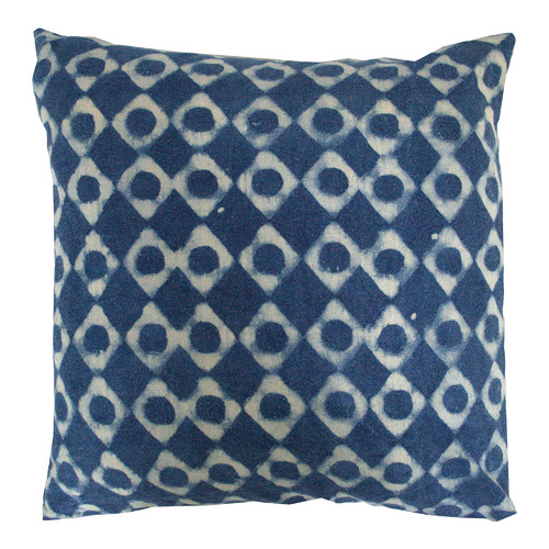 Blue & White Cotton Cushion
