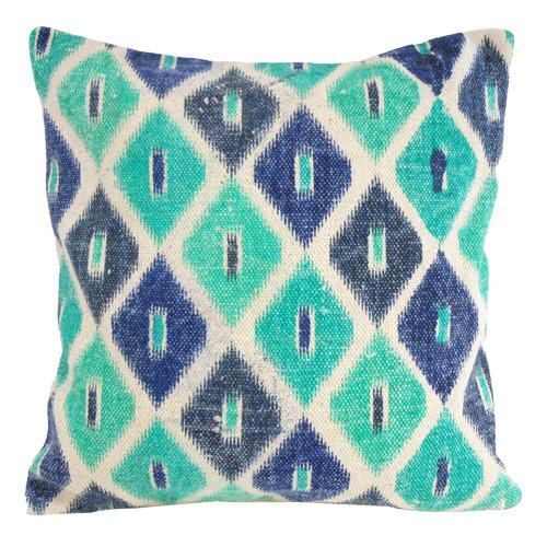 Bohemia & Co Turquoise & Emerald Diamond Cotton Cushion