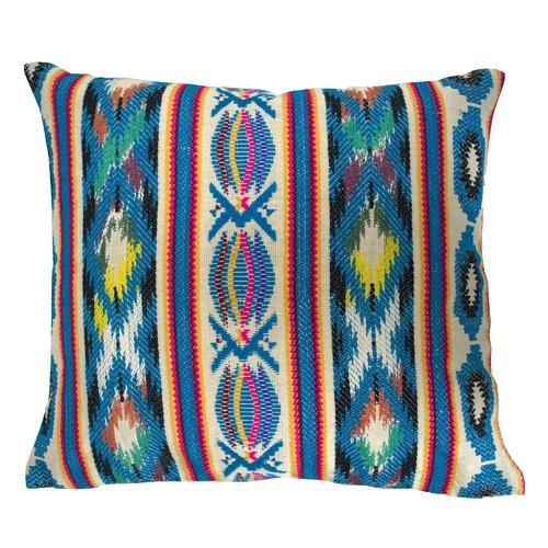 Bohemia & Co Blue Jacquard Cotton Cushion