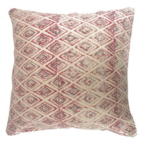 Bohemia & Co Red & Grey Kilim Woven Cotton Cushion
