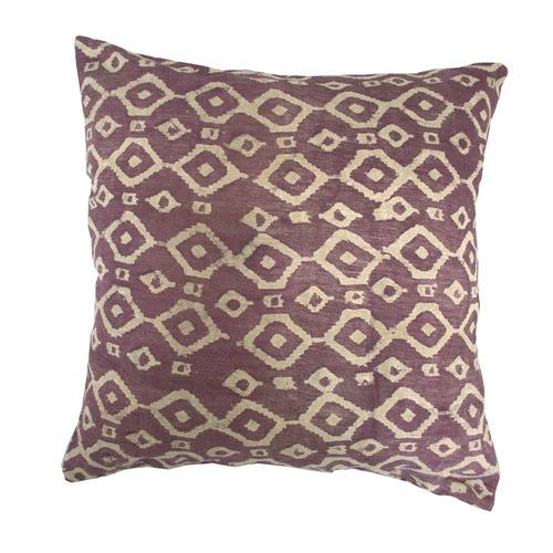 Bohemia & Co Aubergine Diamond Cotton Cushion