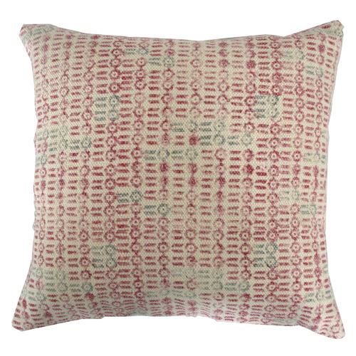 Bohemia & Co Pink & Olive Kilim Woven Cotton Cushion