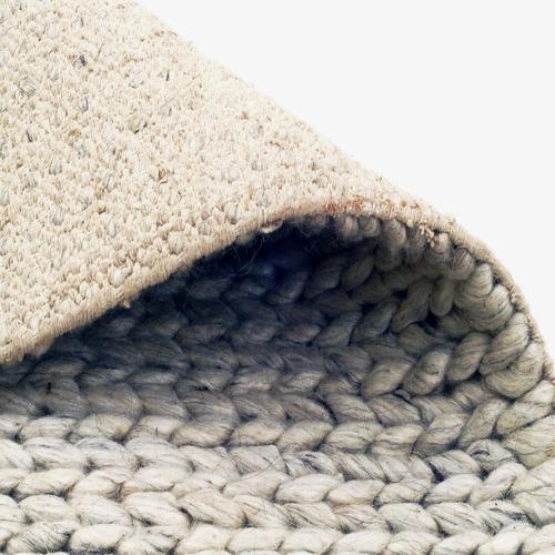 Artisan Decor Silver Link Braided Wool-Blend Rug
