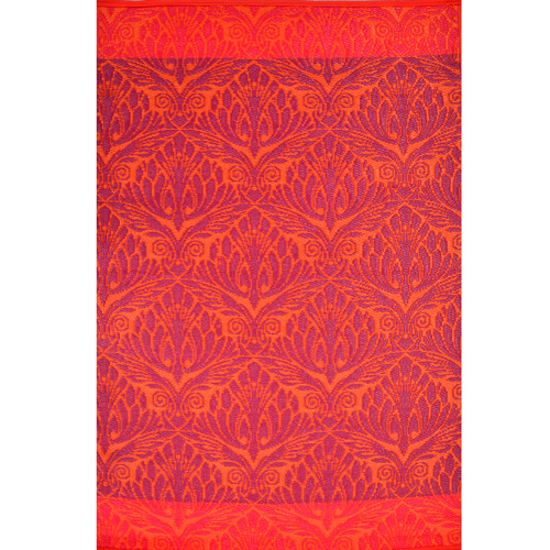 Artisan Decor Red Chatai Peacock Reversible Indoor Outdoor Rug