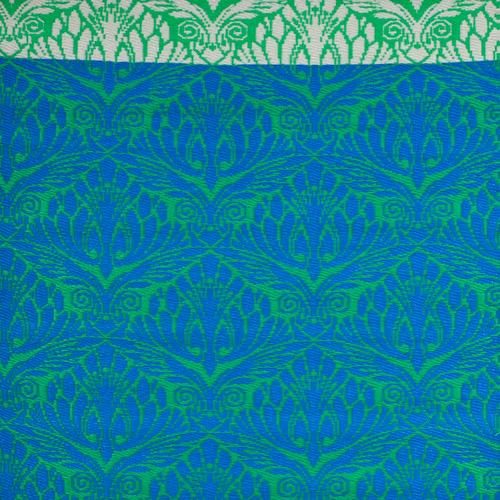 Artisan Decor Green Chatai Peacock Reversible Indoor Outdoor Rug