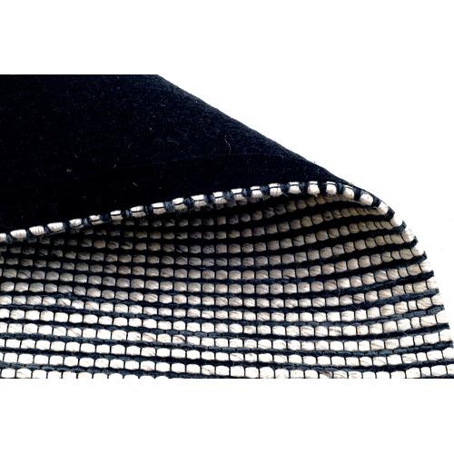 Artisan Decor Navy Festival Hand Made Wool-Blend Rug