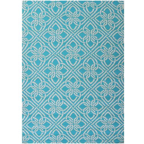 Artisan Decor Aqua Chatai Classic Outdoor Rug