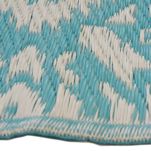 Artisan Decor Sky Blue Chatai Classic Outdoor Rug