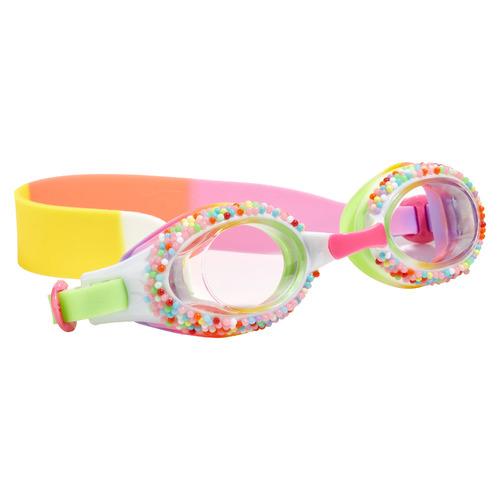 Bling2o Kids' Yellow Birthday Cake Take A Dip-N-Dots Swim Goggles