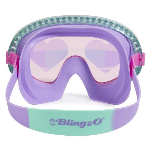 Bling2o Kids' Heart Glitter Swim Mask