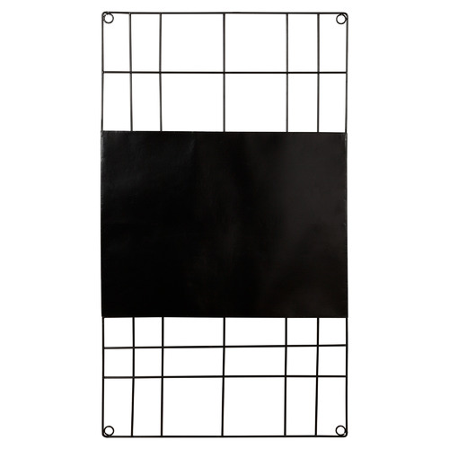 Black Wire Rectangular Magnetic Memo Board