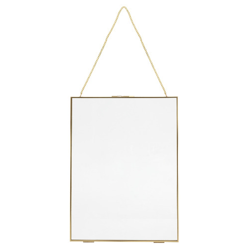 """Gold 12 x 16"""" Metal Photo Frame with Lock"""