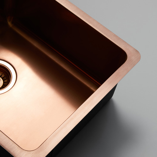 Titan Sinkware W29 x D46cm Rose Gold Titan Stainless Steel Kitchen Sink Bowl