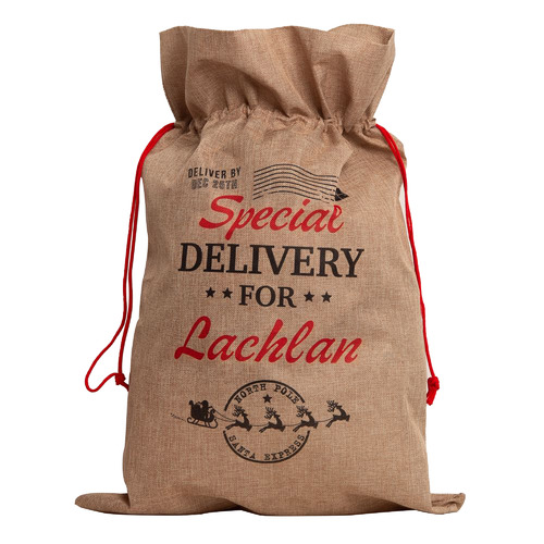 The Personalised Gift Market North Pole Express Vintage Personalised Christmas Sack