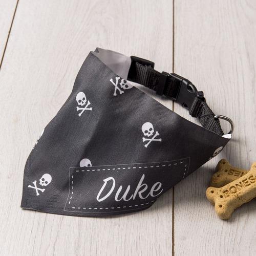 The Personalised Gift Market Skulls Personalised Pet Scarf