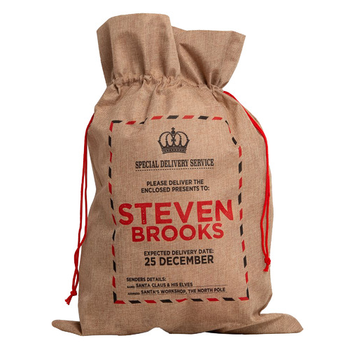 The Personalised Gift Market Special Delivery Service Vintage Personalised Christmas Sack