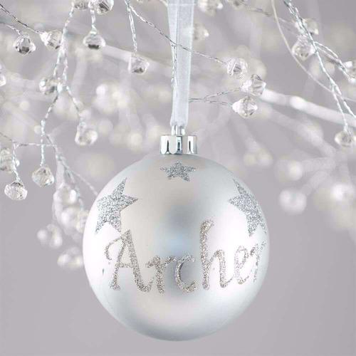 The Personalised Gift Market Star Hand-Painted Personalised Christmas Bauble