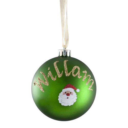 The Personalised Gift Market Santa Hand-Painted Personalised Christmas Bauble
